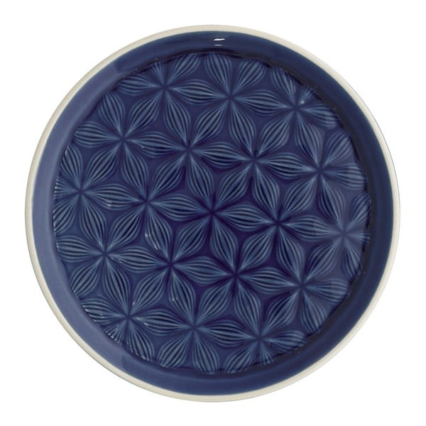 Tmavomodrý keramický tanier Green Gate Kallia, priemer 20,5 cm