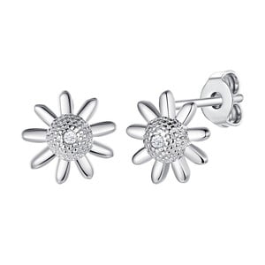 Strieborné náušnice s pravým diamantom Tess Diamonds Claudia