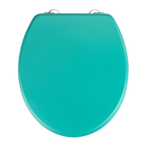 Zelené WC sedadlo Wenko Prima Green, 41 × 37 cm