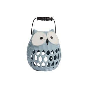 Keramický Svietnik Owl, svetlo modrý
