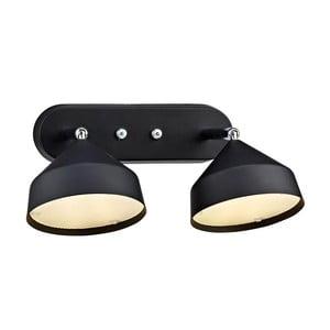 Dvojité nástenné svetlo Markslöjd Tratt, čierne