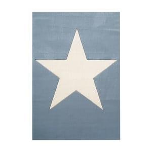 Modrý detský vlnený koberec Happy Rugs Superstar, 120x180cm