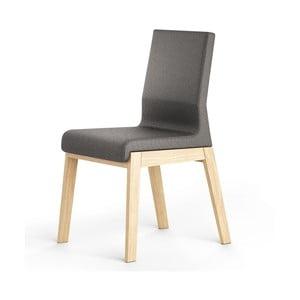 Čierna stolička z dubového dreva Absynth Kyla