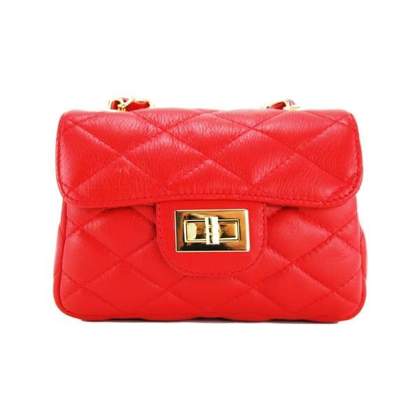 Kožená kabelka Custina Rosso