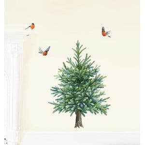 Samolepka na viac použití Fir Tree, 41x40 cm