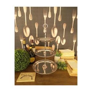 Trojposchodový servírovací podnos Orchidea Milano Lounge Club, ⌀ 26 cm