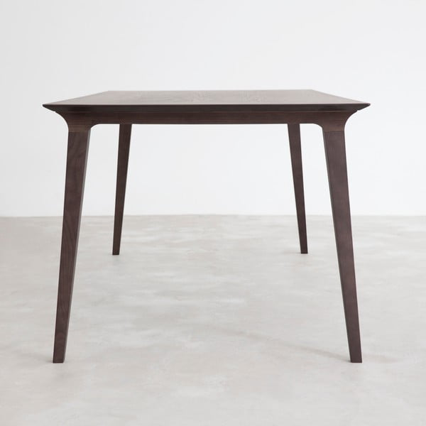 Stôl z čierne moreného jaseňa Stua Lau 90 x 180 cm