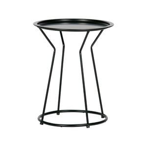 Čierny kovový konferenčný stolík WOOOD Yana, ⌀ 41 cm