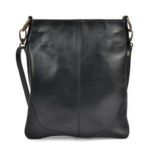Čierna kožená kabelka Mangotti Bags Marisa