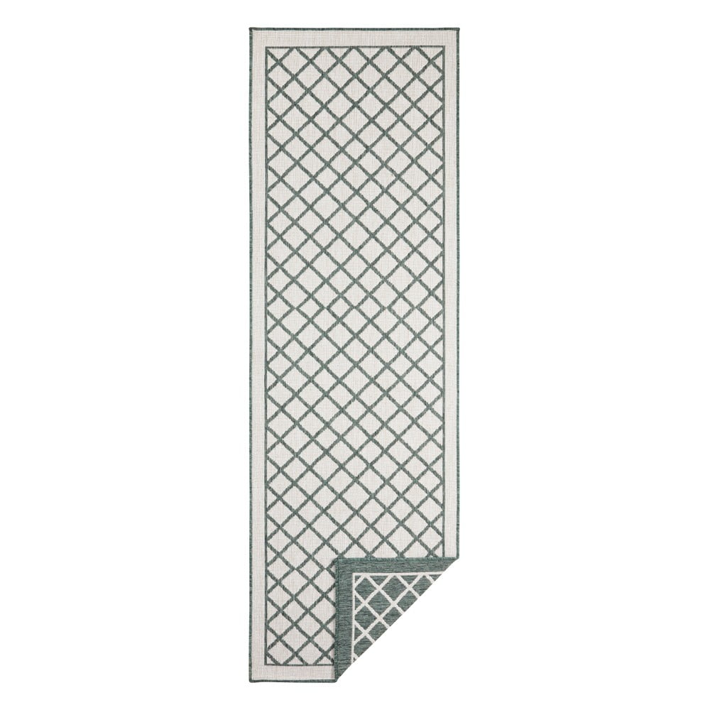 Zeleno-krémový vonkajší koberec Bougari Sydney, 80 x 250 cm