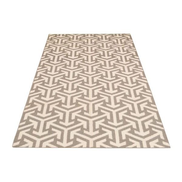 Ručne tkaný koberec Kilim 305 no2 Grey, 155x240 cm