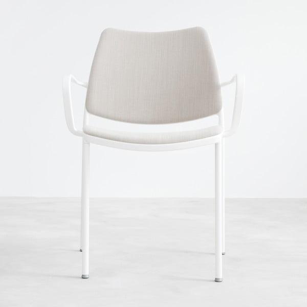 Sivá stolička s bielymi nohami Stua Gas