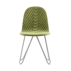 Svetlozelená stolička s kovovými nohami IKER Mannequin X Wave