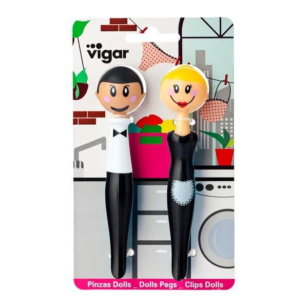 Sada 2 štipčekov Vigar Black Duo