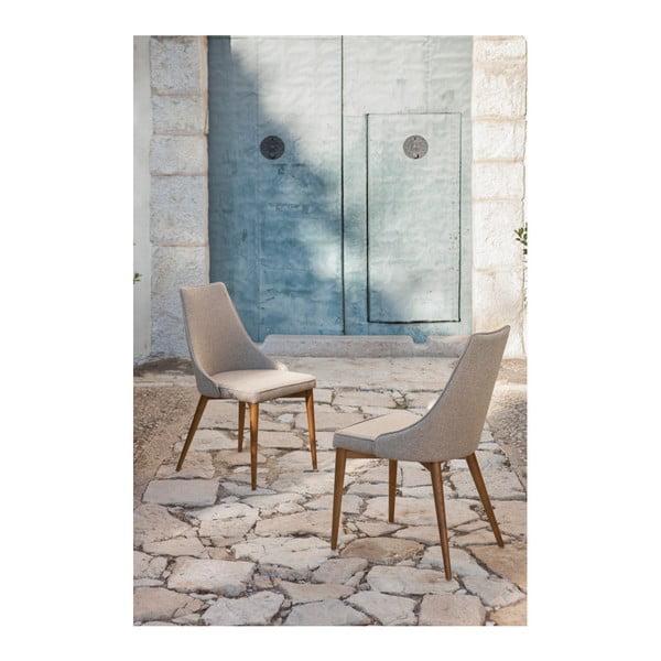 Sada 2 jedálenských stoličiek s podnožou z orechového dreva Ángel Cerdá Temprence
