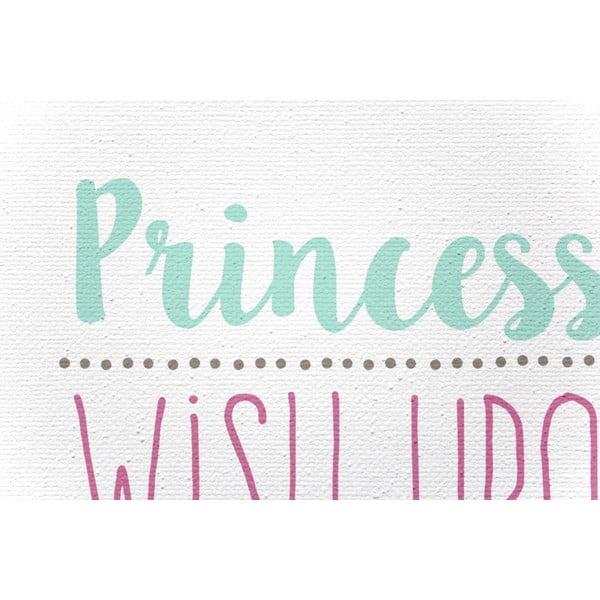 Obraz na plátne Princess Rules, 40x60 cm