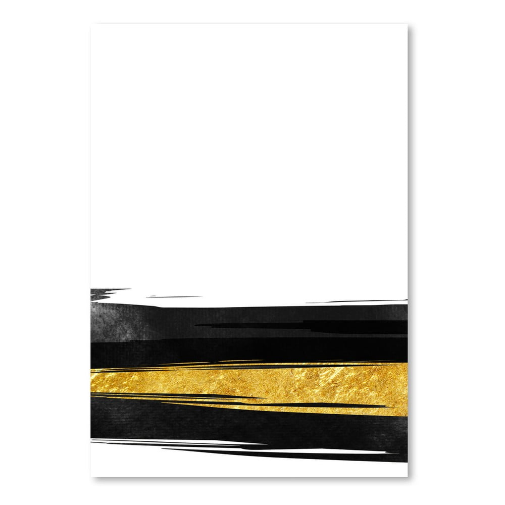 Plagát Americanflat Golden Stripes, 30 × 42 cm