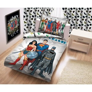 Bavlnené detské obliečky Halantex Justice League, 140 x 200 cm
