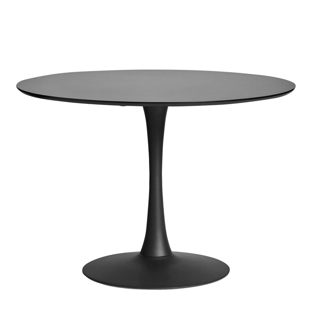 314c9ef10d98 Okrúhly čierny jedálenský stôl Marckeric Oda