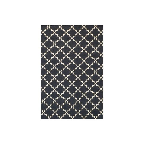 Vlnený koberec Eugenie Dark Grey, 200x140 cm