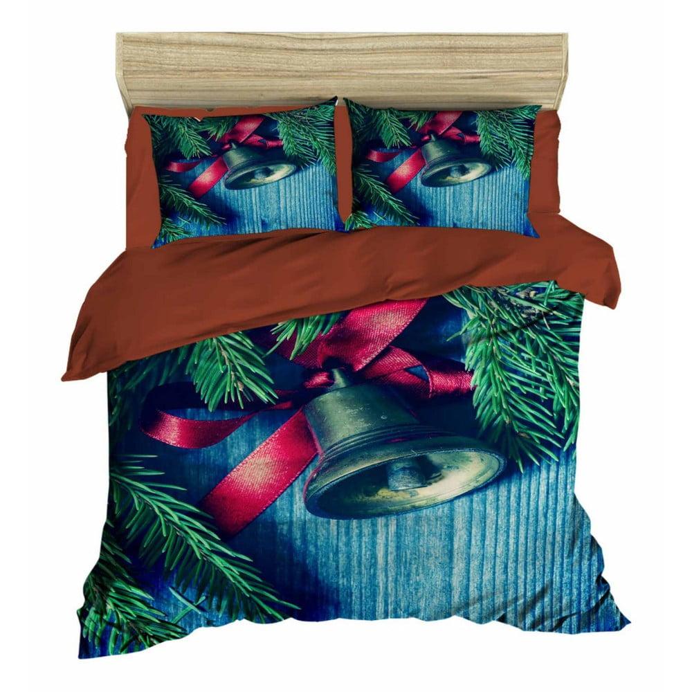 Vianočné obliečky na dvojlôžko s plachtou Davide, 160×220 cm