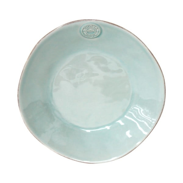 Tyrkysový keramický polievkový tanier Ego Dekor Nova, Ø25cm
