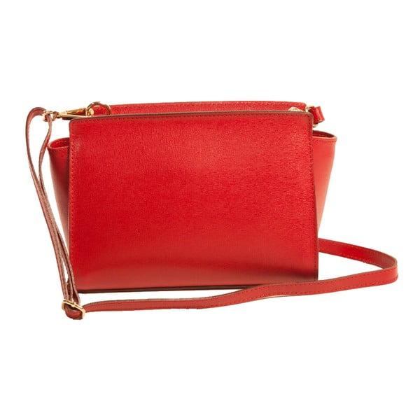 Červená kabelka z pravej kože Andrea Cardone Caterina