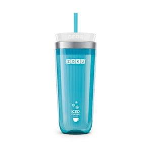 Modrý pohárik na ľadovú kávu Zoku Iced Coffee