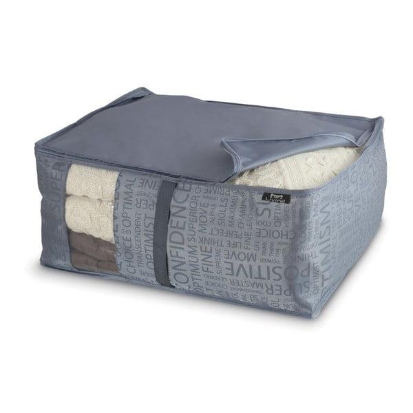Sivý veľký úložný box Domopak Urban