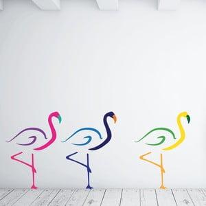 Samolepka na stenu Flamingos