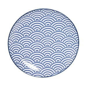 Modrý porcelánový tanier Tokyo Design Studio Wave