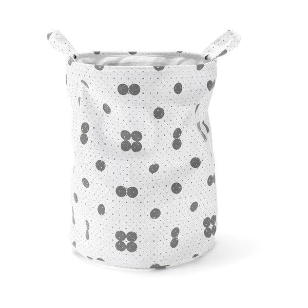 Úložný kôš Dots Grey, 50 cm