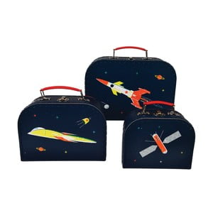 Sada 3 detských kufříkov Rex London Space Age