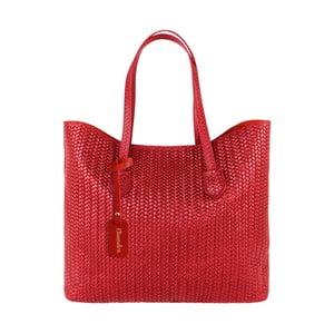 Červená kožená kabelka Maison Bag Ginnie
