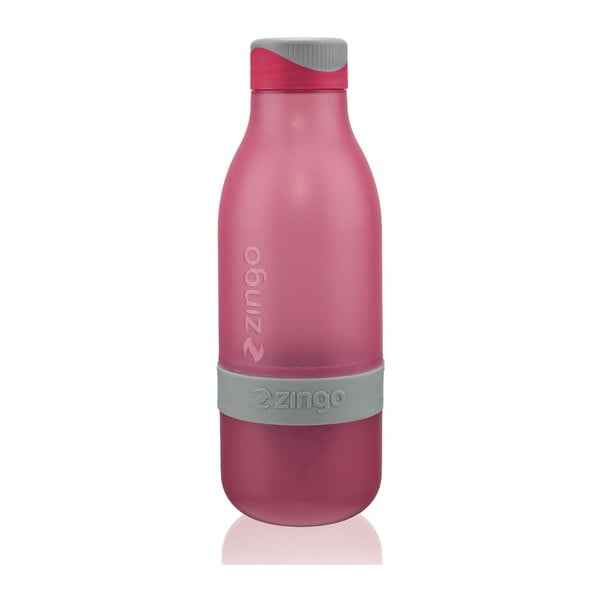 Fľaša na vodu s citrónom Zingo Pink