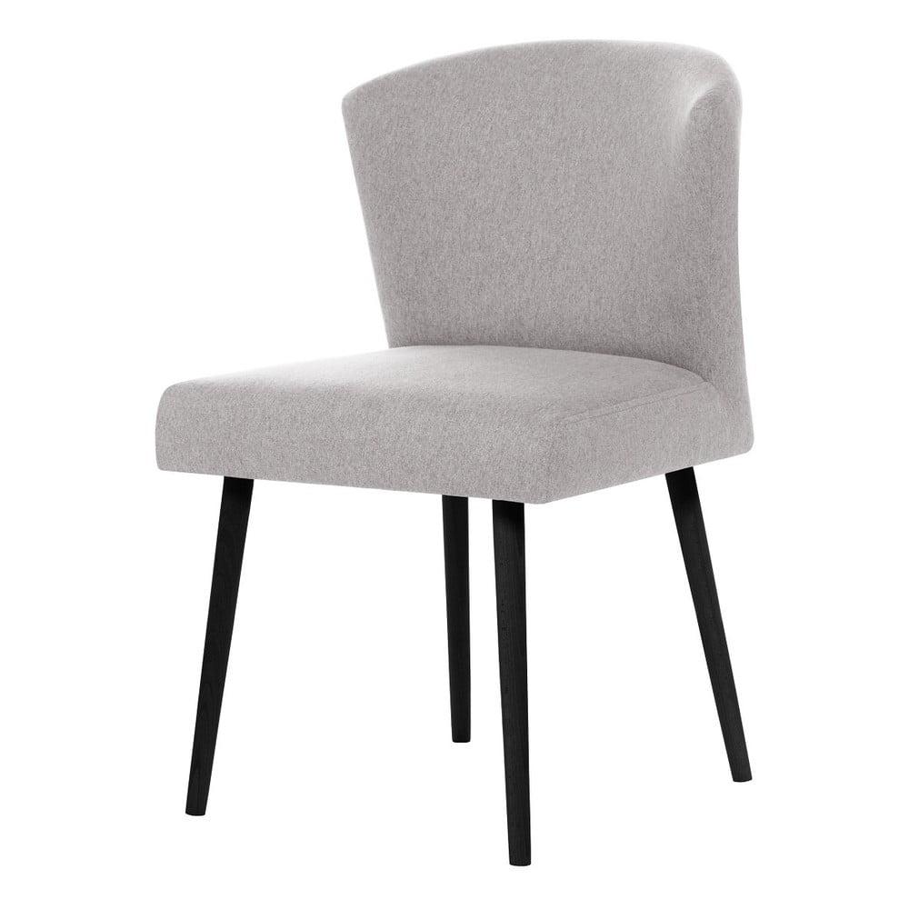 740cfb7a9d33 Svetlosivá jedálenský s čiernymi nohami stoličky My Pop Design Richter