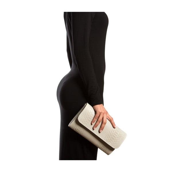 Kožená listová kabelka Isabella Rhea 8018, krémová
