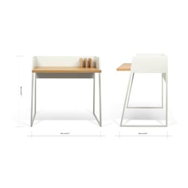 Pracovný stôl TemaHome Volga, dĺžka 90cm