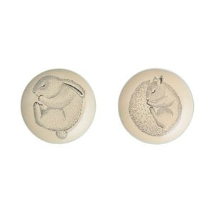Sada 2 plytkých kameninových tanierov Bloomingville Adelyn Lento, ⌀ 20 cm