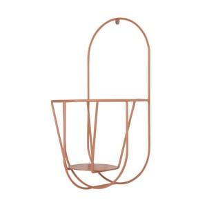 Oranžový nástenný držiak na kvetináče OK Design, výška 40 cm