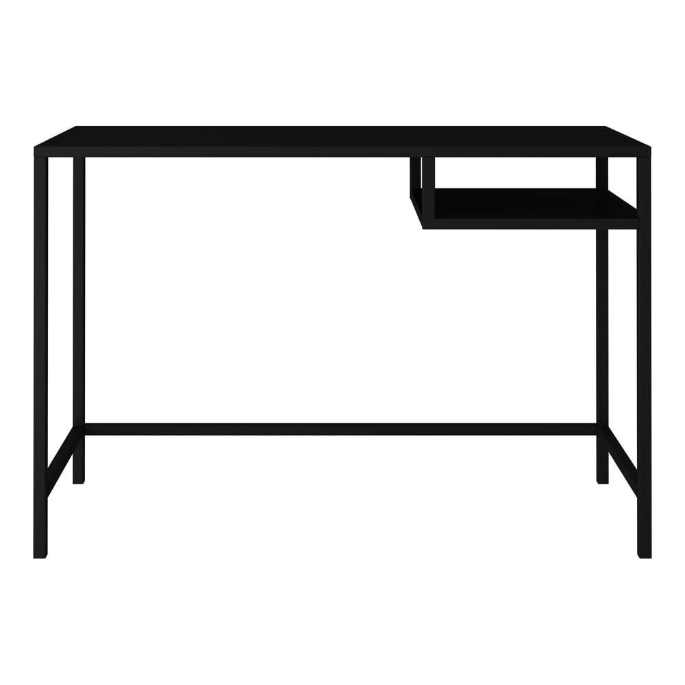 Čierny kovový písací stôl Canett Lite