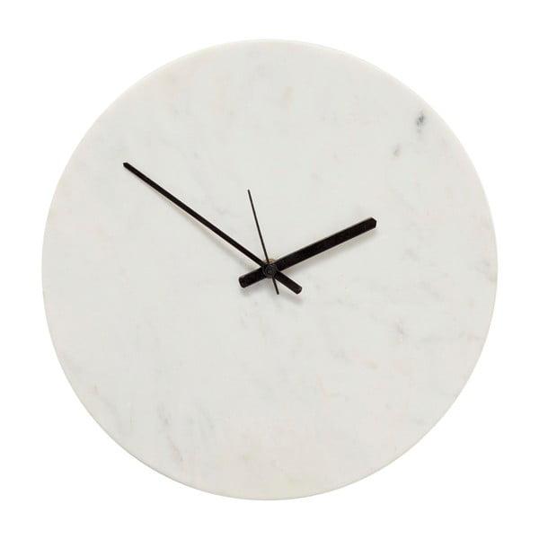 Biele mramorové hodiny Hübsch Tempus