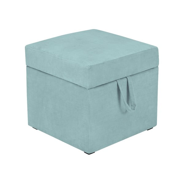 Svetlomodrá taburetka s úložným priestorom KICOTI Cube