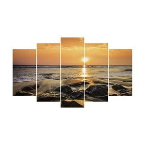 5-dielny obraz Seashore, 60x100 cm