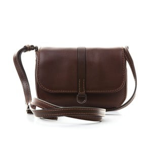 Hnedá kožená kabelka Gianni Conti Sophia