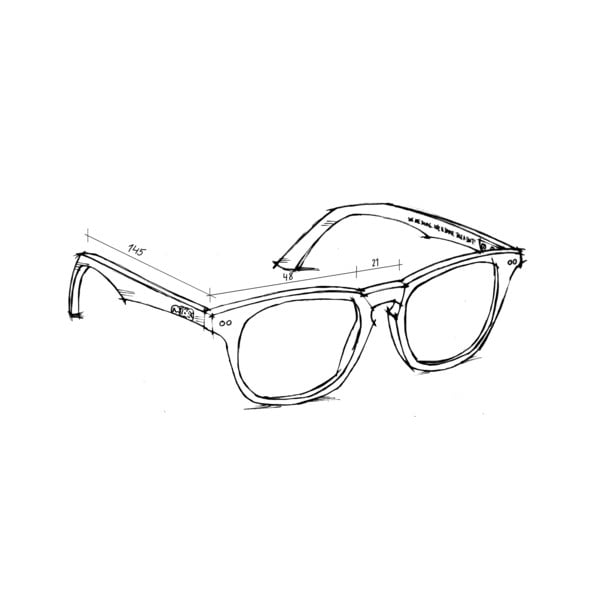 Sluneční a dioptrické brýle v jednom Hagen, fialovohnědé