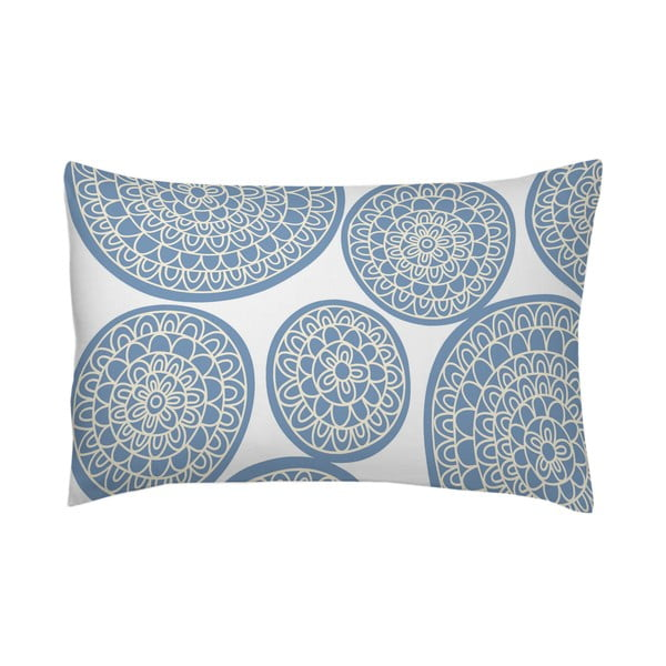 Obliečka na vankúš Circle Azul, 50x70 cm