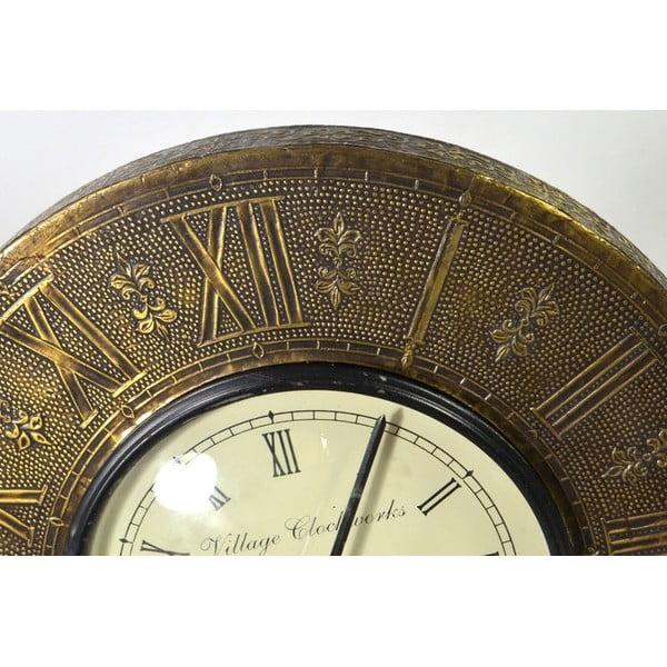 Nástenné hodiny z tepaného kovu Tripura, 29 cm