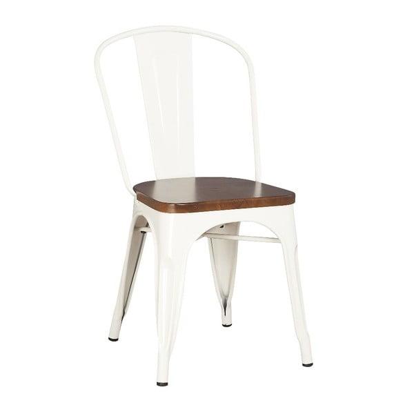 Kovová stolička Moycor White Brushed