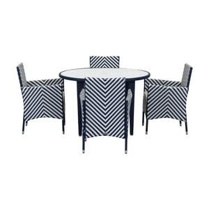 Modro-biely set záhradného nábytku Safavieh Malaga
